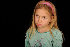Sad young girl Stock Photos
