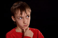 Sad young guy Royalty Free Stock Images