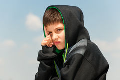 Sad young hip-hop dancer Royalty Free Stock Photo