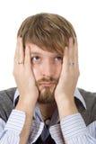 Sad young man. A portrait of a sad young man Stock Photo