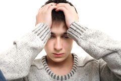Sad young man Stock Photo