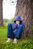 Sad Young Man outdoor Royalty Free Stock Photo