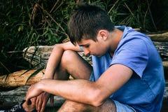 Sad Young Man stock image