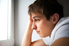 Sad Young Man Stock Photos