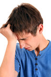 Sad Young Man Stock Images