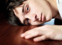 Sad Young Man Royalty Free Stock Photography