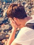 Sad Young Man Stock Photo