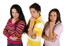 Sad young people Stock Photo