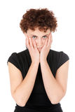 Sad young woman portrait Royalty Free Stock Images