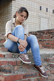 Sad young woman Royalty Free Stock Photography