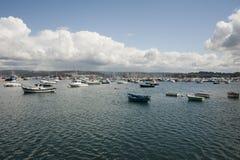 Sada port (Galicia, Spanien) Royaltyfri Foto