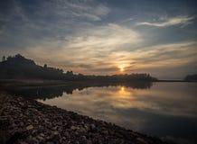 Sadao Dam, Thailand. Morning at Sadao Dam of Songklha Province, Thailand Stock Photography