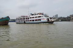 A wonderful view of Buriganga River, Dhaka, Bangladesh Royalty Free Stock Photography