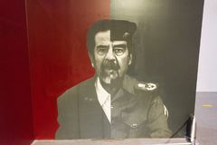 Saddam Hussein displayed on Holy Defense Museum in Tehran, Iran. Tehran, Iran, may 13, 2018: Saddam Hussein displayed on Holy Defense Museum in Tehran, Iran stock photography