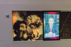 Saddam Hussein displayed on Holy Defense Museum in Tehran, Iran Royalty Free Stock Photo