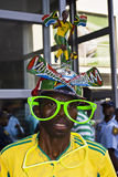 Saddam in Vuvuzela Makaraba - vista frontale Fotografie Stock