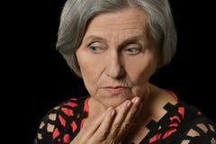 Saddest older woman Stock Image