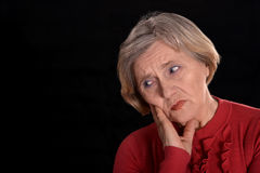 Saddest older woman Stock Photo