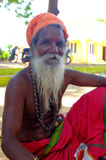 Saddhu at Chidambaram Shiva Temple Stock Photography