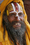 Saddhu in durbar square Royalty Free Stock Images