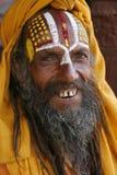 Saddhu in durbar square Royalty Free Stock Images