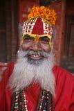 Saddhu in durbar square Stock Photography
