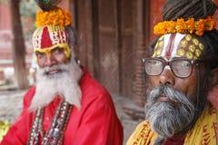 Saddhu nel quadrato durbar, Kathmandu Fotografia Stock