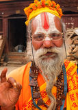 Saddhu, Pashupatinath, Nepal Royalty Free Stock Image