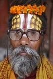 Saddhu portrait in kathmandu stock photos