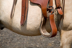 Saddle detail. Royalty Free Stock Photos