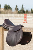 Saddle on the fence Stock Photos