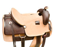 Saddle a horse Royalty Free Stock Photo
