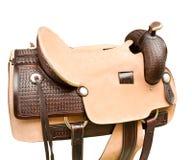 Saddle a horse Royalty Free Stock Photo