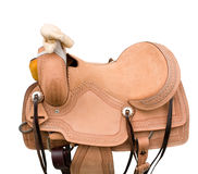 Saddle a horse Stock Images