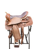 Saddle a horse Stock Image