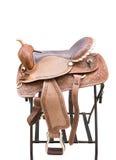 Saddle a horse Stock Image
