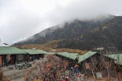 Saddle Hut in Mount Meru, Tanzania royalty free stock image