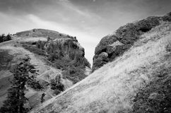Saddle Mountain Black and White Stock Image
