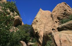 Saddle Peak Geology 2. Sandstone geology on Saddle Peak, Malibu, California Royalty Free Stock Image