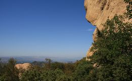 Saddle Peak Geology. Sandstone geology on Saddle Peak, Malibu, California Royalty Free Stock Photos