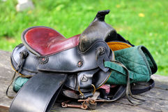 Saddle. Royalty Free Stock Photography