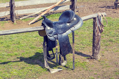 Saddle for riding a horse Royalty Free Stock Image