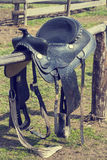 Saddle for riding a horse Royalty Free Stock Photo