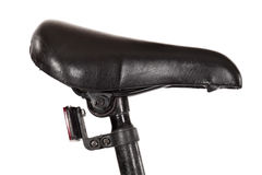 A saddle seat on a bicycle with Stock Image