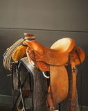 Saddle On Stand Stock Photography