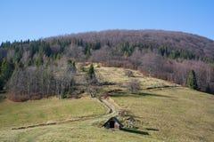 Saddle under Ostry hill, Beskids Beskid mountains , Czech Republic / Czechia stock photos