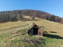 Saddle under Ostry hill, Beskids Beskid mountains , Czech Republic / Czechia stock photo