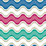 Saddle wave seamless background pattern. Cake Icing Saddle Wave Seamless Background Pattern in Bright Colors Royalty Free Stock Photos