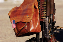 Saddlebag. With American flag Royalty Free Stock Photos