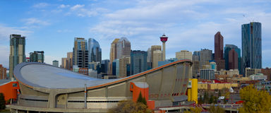 Saddledome Hockey Arena in the The City Royalty Free Stock Image